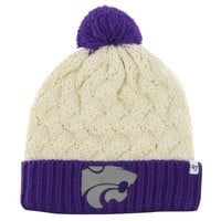 '47 Brand Kansas State Wildcats Ladies Thick Knit Cuffed Beanie - Purple/Natural
