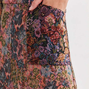 BDG Floral Jacquard Mini Skirt | Urban Outfitters