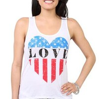 high low tank top with american flag heart love screen and slash back - 1000048911 - debshops.com
