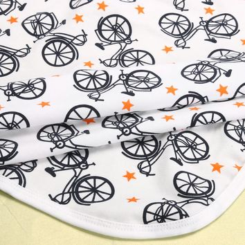 Bicycles and Stars Baby Blanket
