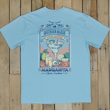Southern Marsh - Cocktail Collection Tee - Margarita - Breaker Blue