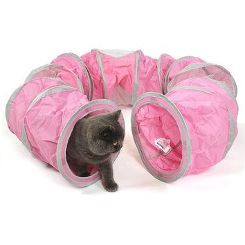 Foldable Pet Cat Tunnel Toys Indoor Outdoor Pet Cats Training Toy Kitten Rabbit Funny Play Tunnel House Toys Can be assemble