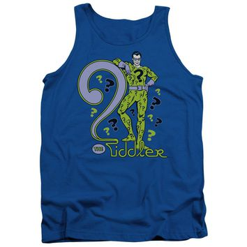 Dc - The Riddler Adult Tank Top Officially Licensed Apparel