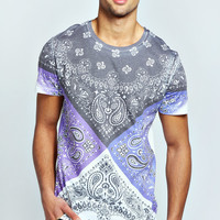 Coloured Paisley T Shirt