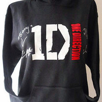 1D One Direction Boys & Girls HOODIE with 5 Bracelets Boys Names XLARGE BLACK