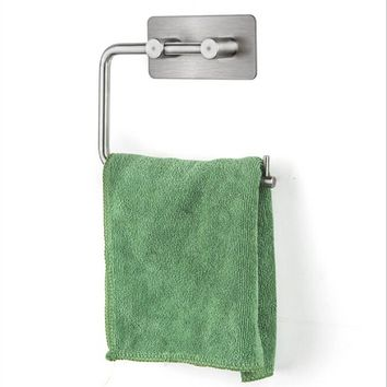 Concise Wall Mounted Toilet Paper Holder Bathroom Fixture Stainless Steel Roll Paper Holders With Phone Shelf Paper Towel Rack