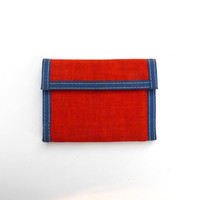 Velcro Wallet Vintage 1980s Red Blue