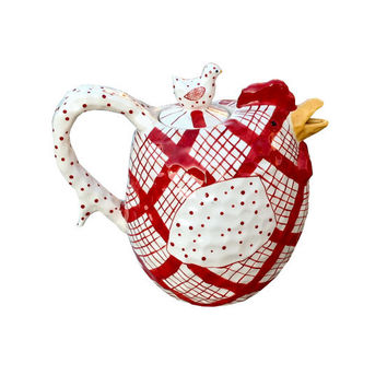Ceramic Rooster Teapot