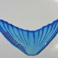 Mermaid tail decal