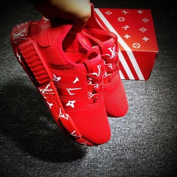 Best Online Sale LV x Adidas NMD R1 Red Sport Running Shoes Casual Shoes Sneakers