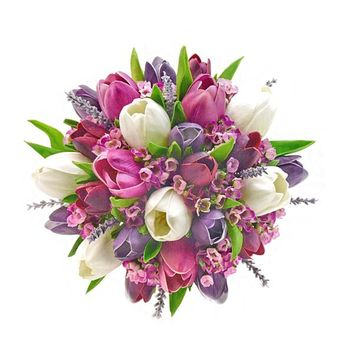 Tulips, Lavender & Wax Flower