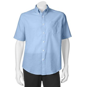 Croft & Barrow Solid Oxford Easy-Care Casual Button-Down Shirt - Big &