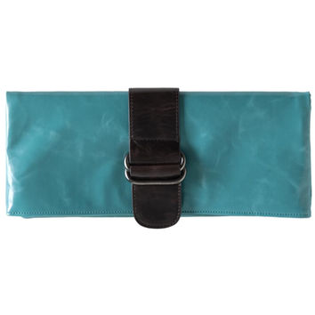 Shiraleah Harper Vegan Clutch Bold Aqua Color