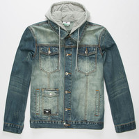 LRG Destroyed Mens Denim Jacket
