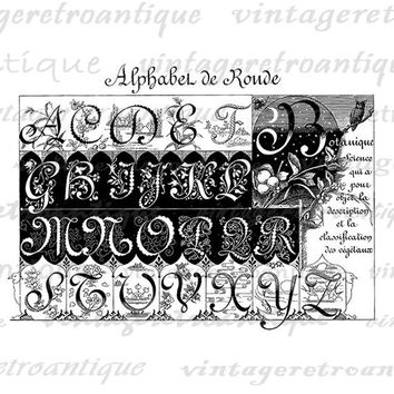 Classic Alphabet Graphic Printable Download Collage Sheet Image Antique Digital Vintage Clip Art Jpg Png Eps  HQ 300dpi No.190