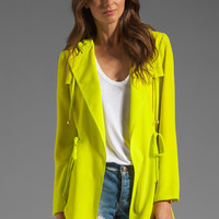 Naven Hooded Cargo Jacket in Chartreuse from REVOLVEclothing.com