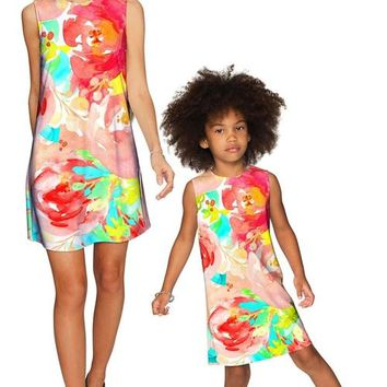 Good Idea Adele Shift Floral Mother and Daughter