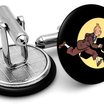 Tintin Adventures Black Cufflinks