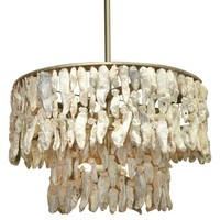Lowcountry Originals Shell 2 Tier Chandelier
