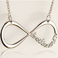 """One Direction, """"Directioner"""" Infinity Necklace"""