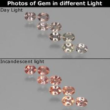 2.17 ct (total) Oval Facet Violet to Red Color-Change Sapphire 4.3 x 3.3 mm