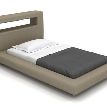 "Modern Bed, Nini Full Platform Bed - 36"" Headboard (Custom) 