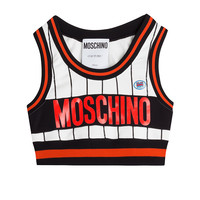 Moschino - Cropped Top with Logo