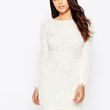 AX Paris Shaggy Jumper Dress at asos.com