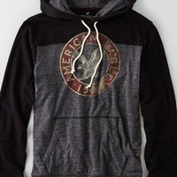 AEO Men's Signature Hoodie T-shirt (Charcoal)