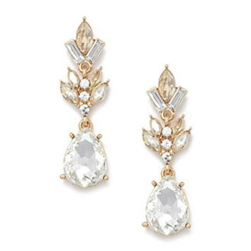 Rhinestone Teardrop Drop Earrings