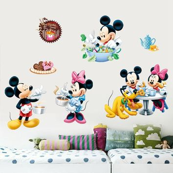 Mickey mouse Vinyl Wall Stickers children's room DIY wall decor home decoration accessories kids living room mural Fridge decals