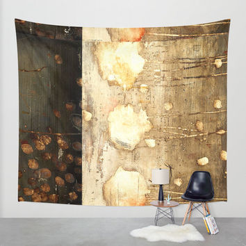 Brown and Beige wall tapestry/Modern wall tapestry/Chic wall tapestry/Golden wall tapestry/Wall decal/Wall art/Artistic wall tapestry