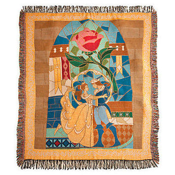 disney parks throw blanket beauty and the beast enchanted rose new sealed
