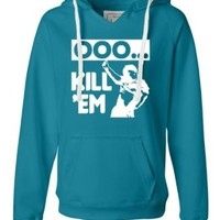 Small Turqberry Womens Ooo Kill Em Ooh Kill Em Funny Viral Video Deluxe Soft Hoodie