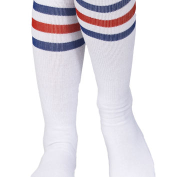 Girls Stripe Kneehigh Socks
