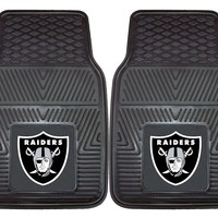 Oakland Raiders Heavy Duty Vinyl Front Seat 2 Piece Car Mat Set