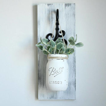Rustic Wall Sconces-Rustic Home Decor-Farmhouse Wall Decor-Farmhouse Decor-Hanging Mason Jars-Housewarming Gift-Rustic Sconces-Rustic Decor