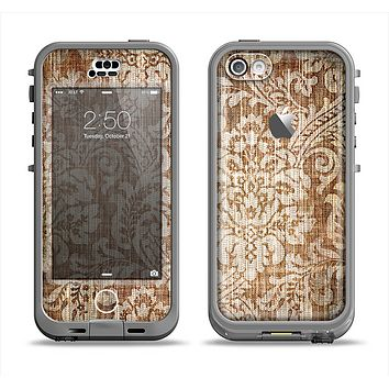 The Antique Floral Lace Pattern Apple iPhone 5c LifeProof Nuud Case Skin Set