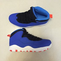 "[Free Shipping ]Air Jordan 10 Retro ""Racer Blue/Black/Te"" Men's Trainers Limited Stock  Basketball Sneaker"