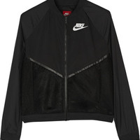 Nike - Tech mesh and shell bomber jacket