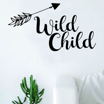 Wild Child Arrow Quote Design Decal Sticker Wall Vinyl Decor Art Adventure Travel Baby Nursery