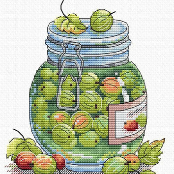 Counted cross stitch kit Juicy gooseberry for beginner cross stitch cross stitch design craft online store needlepoint kits completed fruits