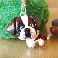 Custom dog necklace polymer clay pet jewelry by FlowerLandShop