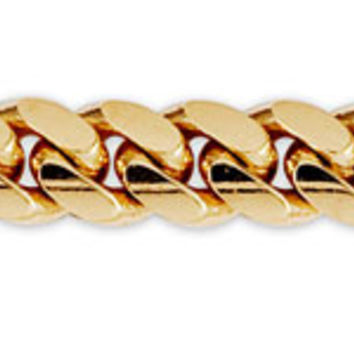 Men's 9.5mm 14K Yellow Gold Miami Cuban Link Chain | GoldenMine.com
