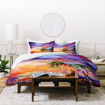 Ginette Fine Art Florida Palms Beach Duvet Cover