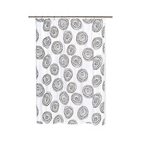 Park Avenue Deluxe Collection Park Avenue Deluxe Collection  inch Lucerne inch  Fabric Shower Curtain with Poly Taffeta Flocking in Black/White