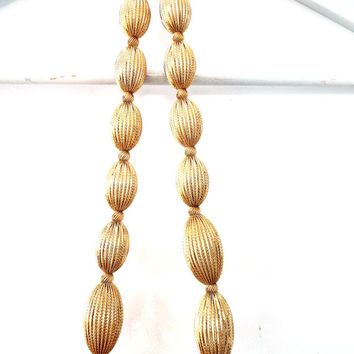 Antique necklace, Unique necklaces for women, Gold color necklace, Gold beaded necklace, Vintage necklace, Boho necklace, Retro Necklace