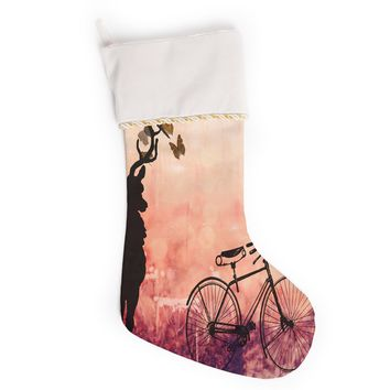 """Suzanne Carter """"Vintage Forest"""" Christmas Stocking"""