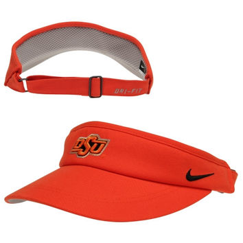 Nike Oklahoma State Cowboys Sideline Dri-FIT Adjustable Performance Visor - Orange