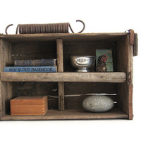 Vintage Crate Industrial Primitive Rustic Decor Shelf Storage